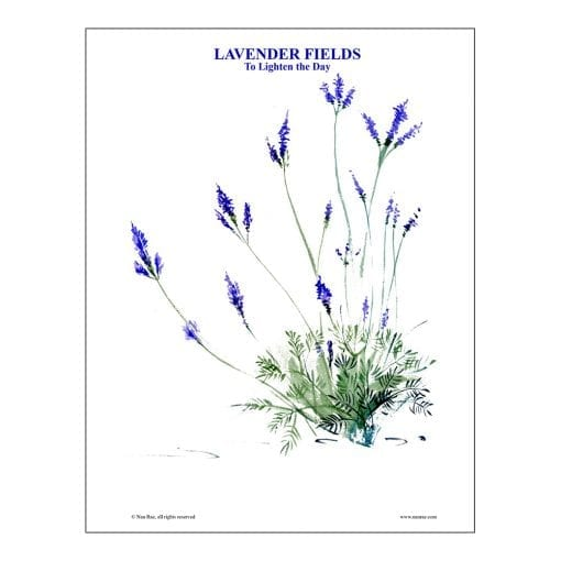 Lavender Brush Painting Lesson by Nan Rae
