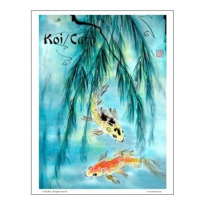 Carp/Koi Brush Painting Lesson by Nan Ra