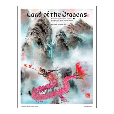 Dragon Brush Painting Class Lesson by Nan Rae