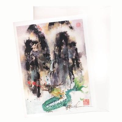 13-13 Land of the Dragon Card by Nan Rae