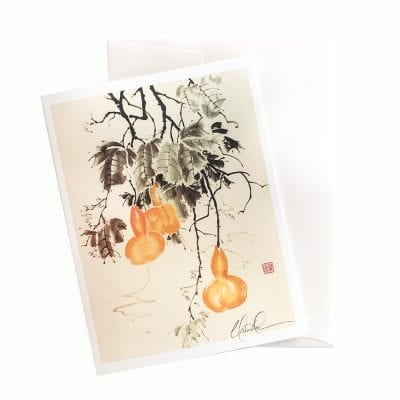 14-10 Gourds Glisten in the Moonlight Card © Nan Rae
