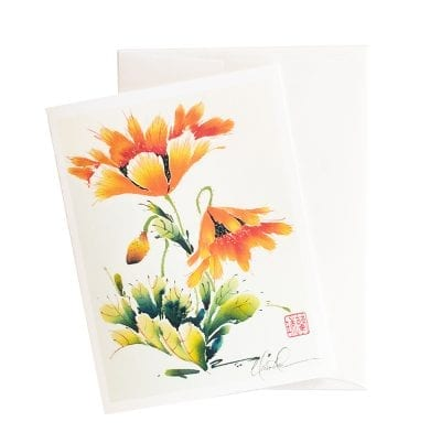 14-11 Orange Folic Card by Nan Rae