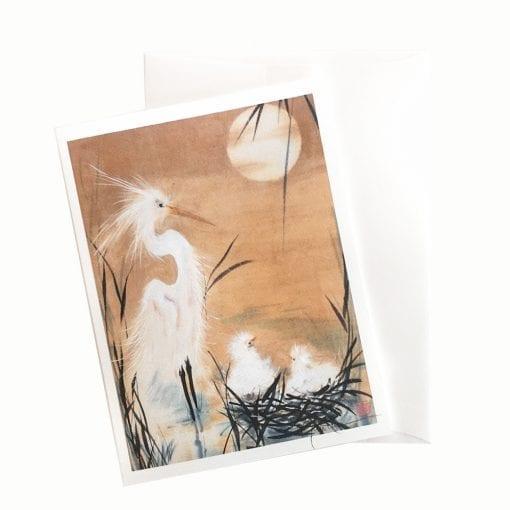 14-22 Egret Card © Nan Rae
