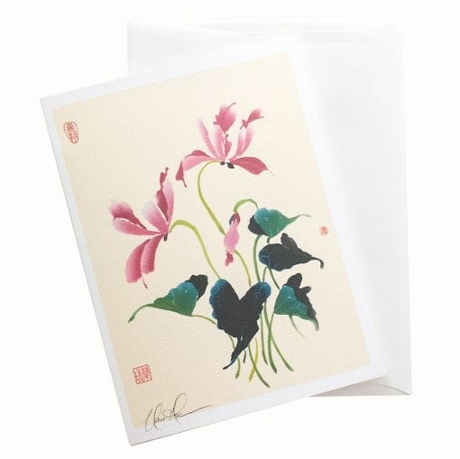 18-15 Cyclamen Card © Nan Rae