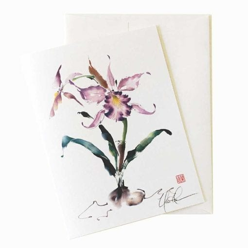 Cattleya Waltz Card by Nan Rae