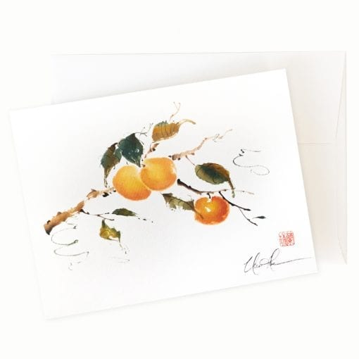 Peachy Peach Card by Nan Rae