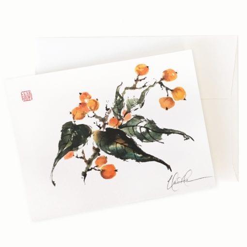 Loquacious Loquat Card by Nan Rae
