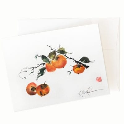 Perhaps Persimmon Card by Nan Rae