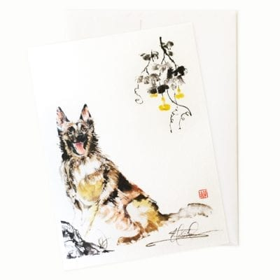 dog greeting card