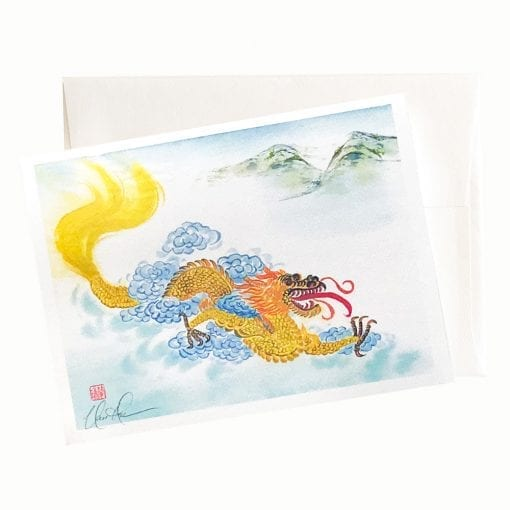 22-18 Yellow Dragon Card © Nan Rae