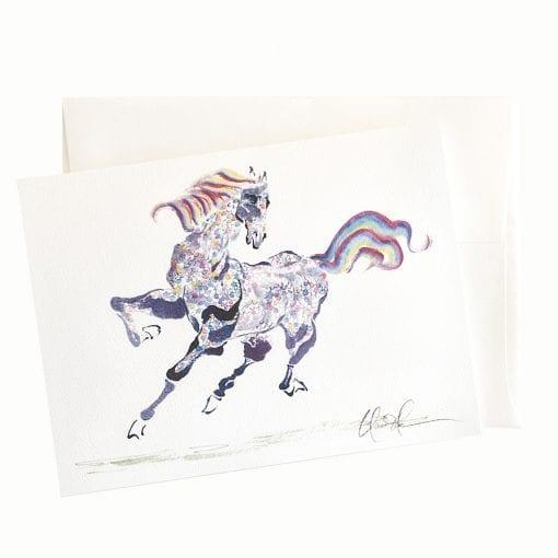 22-19 Rainbow Horse Card © Nan Rae