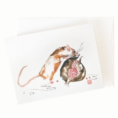 Rat greeting card