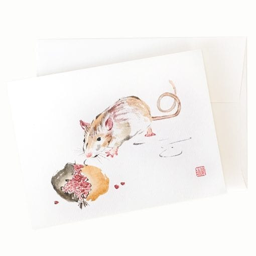 Rat greeting card