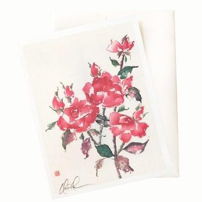 27-11 Floral Studies: Roses VII Card © Nan Rae