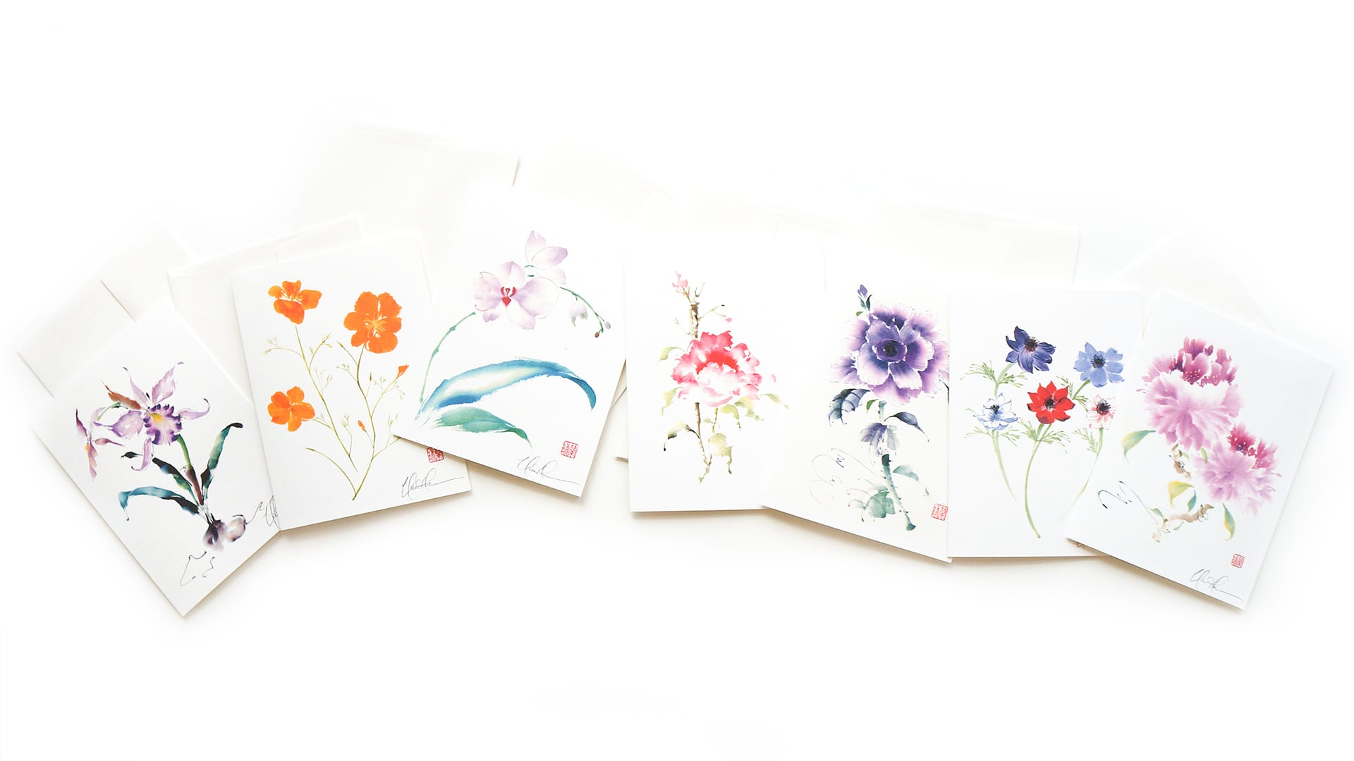 Floral Greeting Cards By Nan Rae