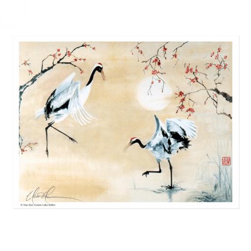 L1438 Crane Lake Ballet Print © Nan Rae