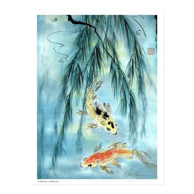 L1819 Golden Koi Print © Nan Rae