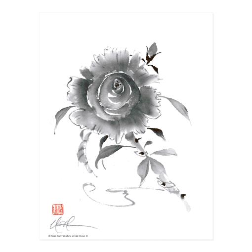 L2416 Studies in Ink: Rose II Print © Nan Rae