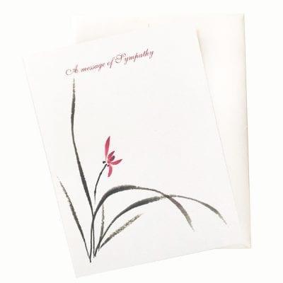 15-08 Orchid Sympathy Card by Nan Rae