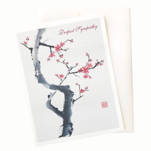 15-13S Gentleman Plum Sympathy Card © Nan Rae