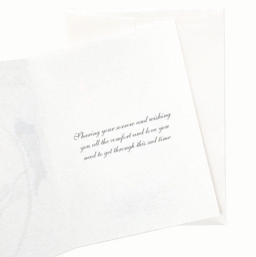 19-06S Shy Sunflower Sympathy Card Message