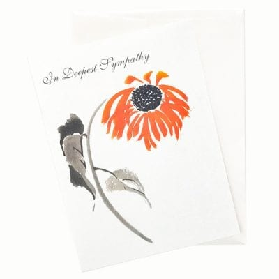 19-06S Shy Sunflower Sympathy Card by Nan Rae