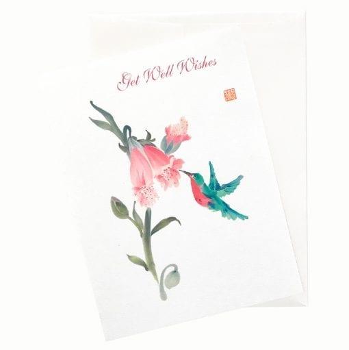 19-26Gw Foxglove Love Get Well Card by Nan Rae
