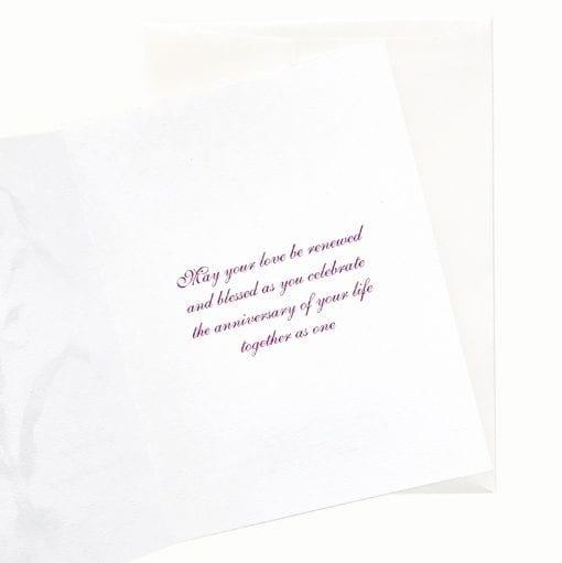 19-28A Cattleya Waltz Anniversary Card Message