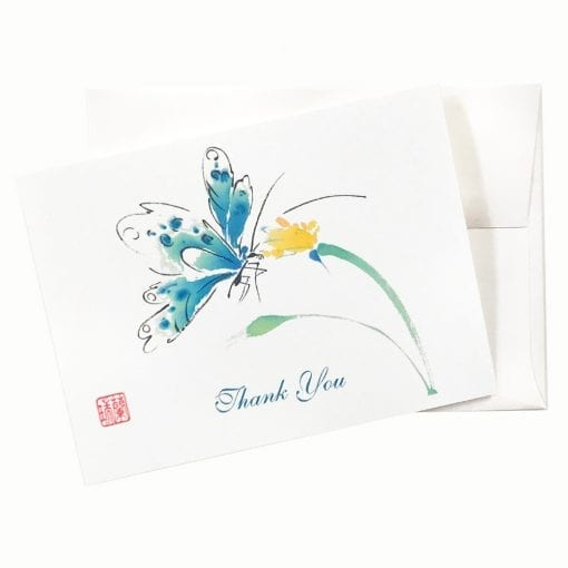 18-38T Butterfly Yum Yum Thank You Card by Nan Rae