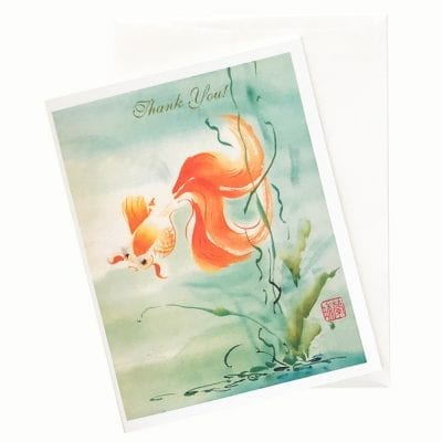 In the Swim Thank You Card by Nan Rae