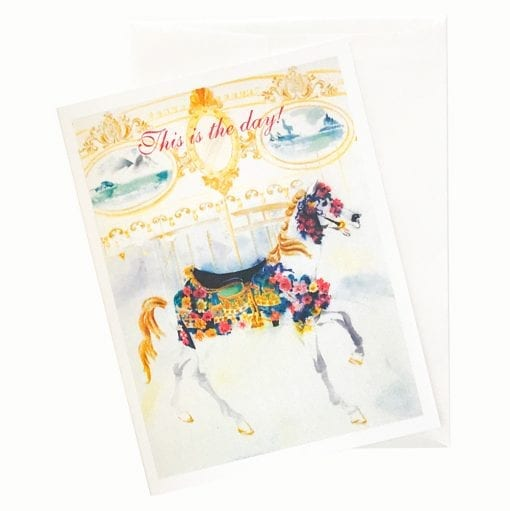 15-04B Carousel Birthday Card by Nan Rae