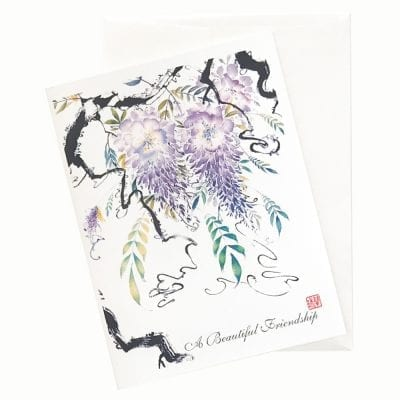 15-42B Emperor's Garden II Birthday Card by Nan Rae