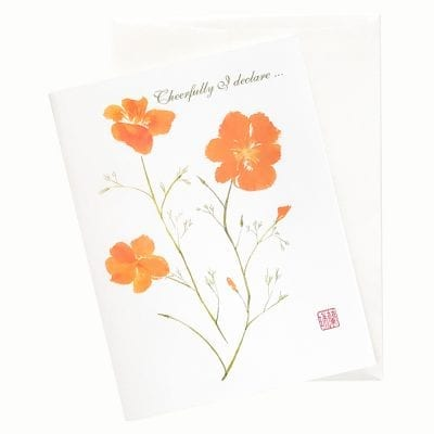 20-46B California Poppy Birthday Card by Nan Rae