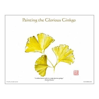 Ginkgo Brush Painting Class Lesson by Nan Rae