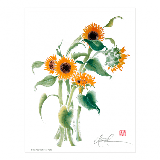 Sunflower Waltz Print by Nan Rae
