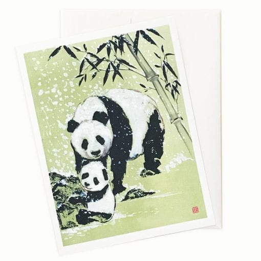 Snowballs (Panda) Card by Nan Rae