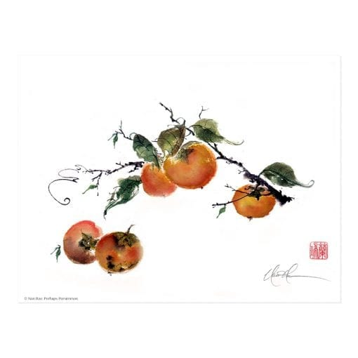 Perhaps Persimmon Print by Nan Rae