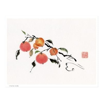L2762 Joyfully (Persimmon) Print by Nan Rae