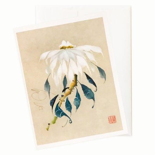 17-10x White Christmas Card by Nan Rae