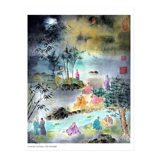 Poets of the Moonlight Print by Nan Rae