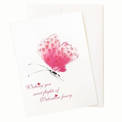 Butterfly of Love Valentines Day Card