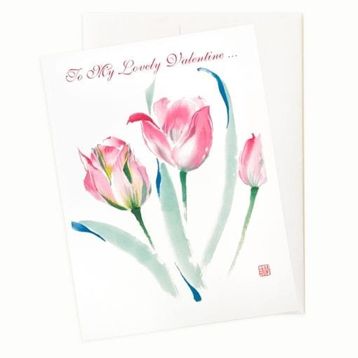 Tulips Valentines Card by Nan Rae