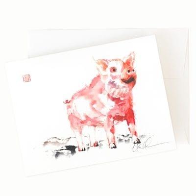 24-04 Piggy Piggy Card by Nan Rae