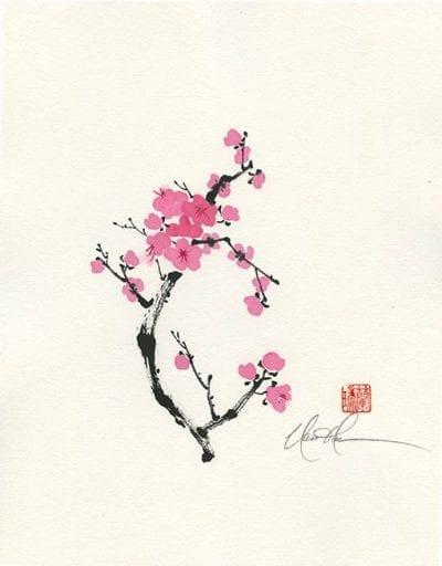 Plum Blossom Chinese Brush Painting