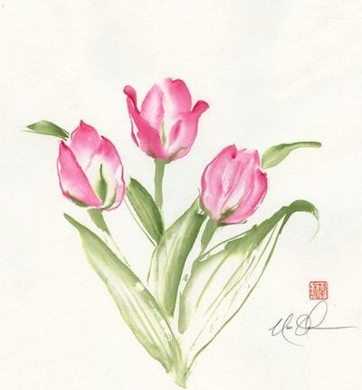 Original Tulips painting by Nan Rae