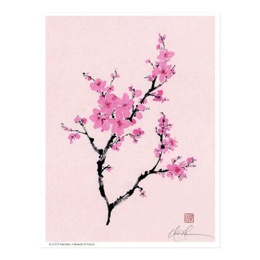 Plum Blossom Print by Nan Rae