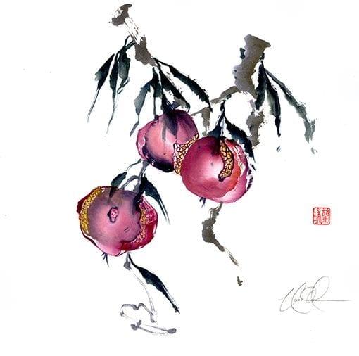 Pmegranate painting