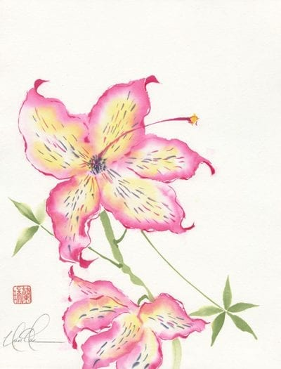 Tiger Lily painting by Nan Rae