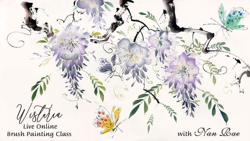 Wisteria Online Brush painting class