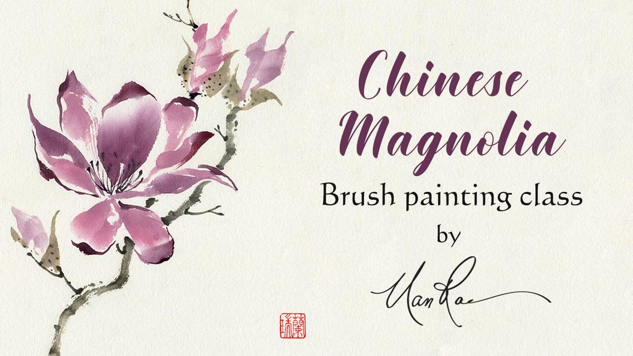 Chinese Magnolia Online Brush Painting Class